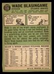 1967 Topps #119   Wade Blasingame Back Thumbnail