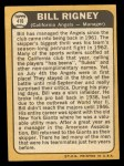 1968 Topps #416  Bill Rigney  Back Thumbnail