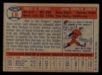 1957 Topps #18   Don Drysdale Back Thumbnail