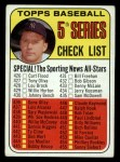 1969 Topps #412  Checklist 5  -  Mickey Mantle Front Thumbnail