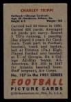 1951 Bowman #137  Charley Trippi  Back Thumbnail