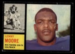 1962 Topps #2   Lenny Moore Front Thumbnail