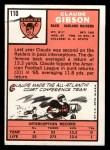 1966 Topps #110  Claude Gibson  Back Thumbnail