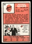 1966 Topps #101   George Sauer Back Thumbnail