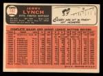 1966 Topps #182  Jerry Lynch  Back Thumbnail