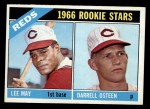 1966 Topps #424   -  Lee May / Darrell Osteen Reds Rookies Front Thumbnail