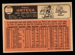 1966 Topps #416   Phil Ortega Back Thumbnail