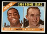 1966 Topps #164  White Sox Rookies  -  Tommie Agee / Marv Staehle Front Thumbnail