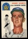 1954 Topps #33   Johnny Schmitz Front Thumbnail