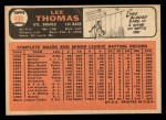 1966 #408  Lee Thomas  Back Thumbnail