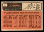 1966 Topps #371   Lee Stange Back Thumbnail