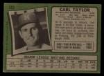 1971 Topps #353   Carl Taylor Back Thumbnail