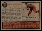 1962 Topps #207   Pete Burnside Back Thumbnail