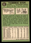 1967 Topps #84  Tommie Sisk  Back Thumbnail
