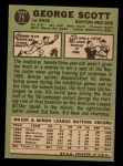 1967 Topps #75  George Scott  Back Thumbnail