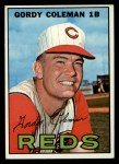 1967 Topps #61  Gordy Coleman  Front Thumbnail
