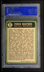 1967 Topps #423  Fence Busters  -  Willie Mays / Willie McCovey Back Thumbnail