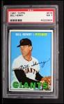 1967 Topps #579  Bill Henry  Front Thumbnail