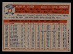 1957 Topps #71   Murry Dickson Back Thumbnail