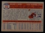 1957 Topps #48  Billy Bruton  Back Thumbnail