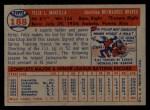 1957 Topps #188   Felix Mantilla Back Thumbnail