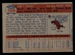 1957 Topps #390   Reno Bertoia Back Thumbnail