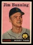 1958 Topps #115   Jim Bunning Front Thumbnail