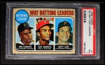 1968 Topps #1  1967 NL Batting Leaders  -  Matty Alou / Roberto Clemente / Tony Gonzalez Front Thumbnail