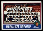 1976 Topps #606  Brewers Team Checklist  -  Alex Grammas Front Thumbnail