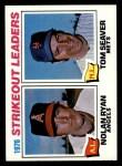 1977 Topps #6  Strikeout Leaders    -  Nolan Ryan / Tom Seaver Front Thumbnail