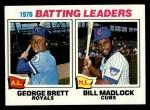 1977 Topps #1  1976 Batting Leaders    -  George Brett / Bill Madlock Front Thumbnail