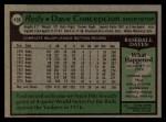 1979 Topps #450   Dave Concepcion Back Thumbnail