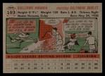 1956 Topps #103   Willie Miranda Back Thumbnail
