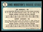 1965 Topps #16   Houston Rookie Stars  -  Joe Morgan / Sonny Jackson Back Thumbnail