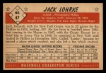 1953 Bowman Black and White #47   Jack Lohrke Back Thumbnail