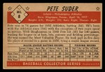 1953 Bowman Black and White #8  Pete Suder  Back Thumbnail