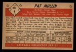1953 Bowman Black and White #4  Pat Mullin  Back Thumbnail