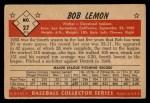 1953 Bowman Black and White #27  Bob Lemon  Back Thumbnail