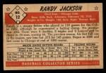 1953 Bowman Black and White #12   Randy Jackson Back Thumbnail
