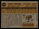 1960 Topps #531   Sandy Amoros Back Thumbnail