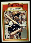 1972 Topps #702  In Action  -  Jose Pagan Front Thumbnail