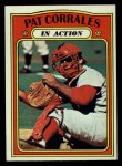 1972 Topps #706  In Action  -  Pat Corrales Front Thumbnail