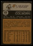 1973 Topps #408  Jim Colborn  Back Thumbnail