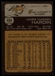 1973 Topps #124   Jim Hardin Back Thumbnail