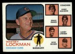 1973 Topps #81 SOL Cubs Field Leaders  -  Whitey Lockman / Hank Aguirre / Ernie Banks / Larry Jansen / Pete Resier Front Thumbnail