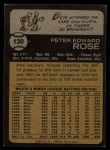 1973 Topps #130   Pete Rose Back Thumbnail