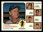 1973 Topps #81 NAT Cubs Field Leaders  -  Whitey Lockman / Hank Aguirre / Ernie Banks / Larry Jansen / Pete Resier Front Thumbnail