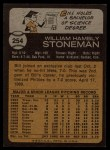 1973 Topps #254   Bill Stoneman Back Thumbnail