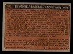 1972 Topps #308  In Action  -  Steve Renko Back Thumbnail