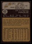 1973 Topps #447   Joe Hague Back Thumbnail